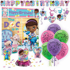 Doc McStuffins Premium Birthday Party Pack Decoration Kit Childrens Tableware
