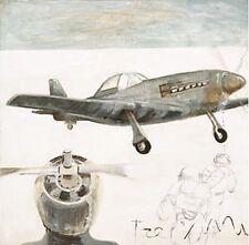 Ivano Berlendis: Mustang Squadron i COMPLETO - 70x70 Immagine Muro Immagine aereo Oldtimer