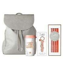 Zoella On My Travels Back Pack Gift Set. Inc Pencils, Travel Mug And Keyring New