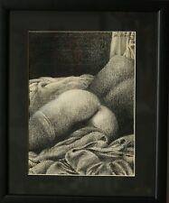 """""""La femme aux bas dior"""" dessin signé DUBIGEON Loic"""