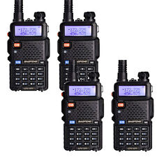 4 × BaoFeng UV-5R LCD 136-174/400-520MHz Dual-Band CTCSS Ham Two Way Radio