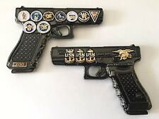 USN NAVY SEALS TEAM GLOCK 19 GUN PISTOL 9MM CHALLENGE COIN CPO CHIEF NSW POLICE
