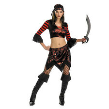 Swashbuckling Siren Sassy Adult Pirate Costume Size: Standard Up To Size 12