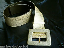 YVES SAINT LAURENT YSL LARGE CEINTURE 6cm DOREE GROSSE BOUCLE 80cm AUTHENTIQUE !