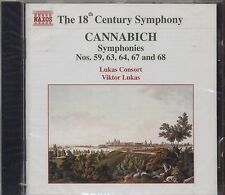CANNABICH - Symphonies Nos. 59, 63, 64, 67 & 68 - LUKAS CONSORT CD 1998 SEALED