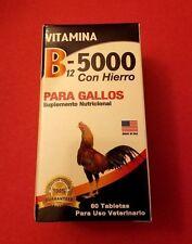 VITAMINA B12-5000 CON HIERRO PARA GALLOS 60 TABLETAS EXP 01/2018