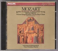MOZART Coronation Mass CD Harrer 411139-2 Philips smooth case West Germany 1980s
