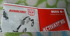 TRANSFORMERS ANIMATED ACTIVATORS BUMBLEBEE INSTRUCTION BOOKLET ONLY