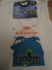Preowned Lot of Three Half Marathon & Marathon Shirts - Maine, Dublin & Key West