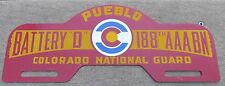 COLORADO NATIONAL GUARD LICENSE PLATE TOPPER 188TH AAA BN