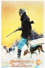 Sports Poster Hunting Scene With Dogs Remington Firearms