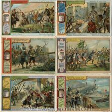 Chromo Liebig Sang. 657 ITA La Balistica Attraverso I Tempi ANNO 1901