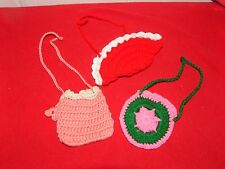 """Lot of 18"""" Doll Purse Bag for American Girl Kidz n Cats BFC Ink Clothes Crochet"""