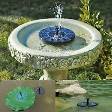 Outdoor Solar Power Fountain Garden Pond Pool Water Feature Pump Submersible
