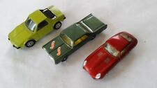 3 MODEL CARS CORGI JUNIOR HUSKY  LESNEY ANNI 70 FIAT X1/9 E TYPE JAGUAR OLDSMOBI