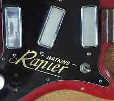Watkins Rapier Guitar -  scratchplate/pickguard sticker/transfer/decal in gold