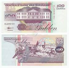 Suriname 100 Gulden, 1998, P-139, Bird, Unc