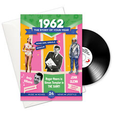 1962 54th Birthday | Anniversary Gift -1962 4-In-1 Card,Book,CD and Download
