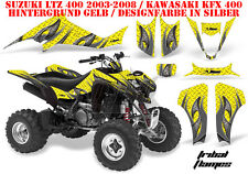 Amr racing decoración Graphic kit ATV suzuki ltz & Kawasaki KFX tribal Flame B
