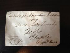 LORD FRANCIS JEFFREY - SCOTTISH JUDGE & LITERARY CRITIC - SIGNED ENVELOPE FRONT