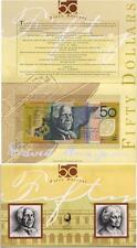 1995 50 Dollars - Fraser/Evans..  Polymer with 4th Oct Overprint.   (NPA)