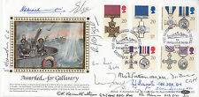 Rare Benham Gallantry Full Set FDC Signed by 11 Navy Distinguished Service Medal
