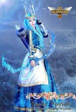 LOL Ashe Queen dress League Of Legends Cosplay costume Velvet Gown Victorian