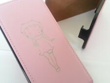 Iphone 4 Betty Boop De Cuero Original Rosa Flip Phone Funda cinco Apple 4s