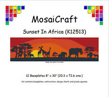 MosaiCraft Pixel Craft Mosaic Kit 'Sunset In Africa' (Incl. Dove Tail Clips)