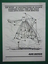 10/1981 PUB AIR INTER AIRLINE RESEAU AERIEN AIRBUS AIRLINER ORIGINAL AD