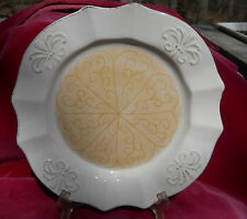 GOURMET EXPRESSIONS CANDIRIA DINNER PLATE S CREAM TAN SCROLL STONEWARE