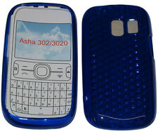 For Nokia Asha 302 / 3020 Pattern Gel Jelly Case Cover Protector Pouch Blue New