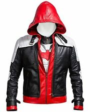 Batman Arkham Knight Game Red Hood Leather Jacket Costume - BNWT