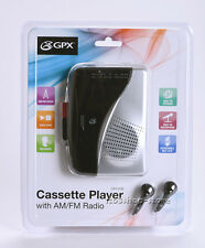 GPX CAS335B Stereo AM/FM Radio Cassette Player w/Recorder Portable Walkman NEW