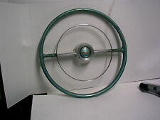 1953 1954 CHEVROLET BELAIR GREEN STEERING WHEEL NICE CHROME HORN RING L@@K