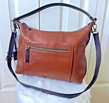 FOSSIL Pebble Brown LEATHER VICKERY HOBO Bag Tote Crossbody