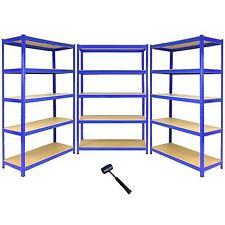 3 Bay Garage Racking Shelves / Shed Greenhouse Shelving 5 Tier 1200mm wide T-RAX