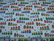 3 Yards Cotton Fabric-Timeless Treasures Mini Matryoshka Russian Nesting Dolls