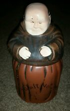 Vintage McCoy monk friar tuck cookie jar, Thou Shall Not Steal Robe USA