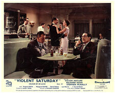 Violent Saturday original lobby card Lee Marvin in bar with beer