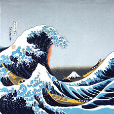 "Furoshiki Tapestry 27"" x  27.5"" Ukiyoe Great Wave Kanagawa/Made Japan/CF-016-02"