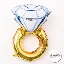 Diamond Ring Foil Helium Balloons Wedding Engagement Valentines Table Decoration