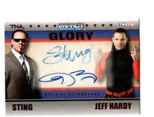 TNA Sting & Jeff Hardy 2013 GLORY RED Dual Authentic Autograph Card SN 23 of 50