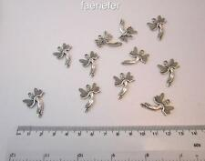 10 Fairy charms tibetan silver for jewellery making craft or cards faerie fae