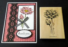Stampin up Large Lotus Blossom flower stamp~
