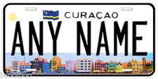 Curacao Any Name Number Novelty Auto Car License Plate