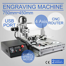 4 AXIS USB CNC ROUTER ENGRAVER ENGRAVING CUTTER 6040T 800W 3D CUTTING TOOL
