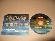 Def Leppard Long Long Way To Go cd Single Promo 2002 Ex Condition Rare