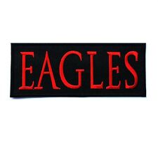 """RED EAGLES PATCH EMBROIDERED SEW IRON ON MUSIC ROCK BAND SIZE 4.5x1.9"""" FREE SHIP"""