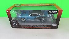Highway 61 1971 PLYMOUTH HEMI CUDA BLUE W/ BLACK TOP   1:18  Diecast ERTL  1/600